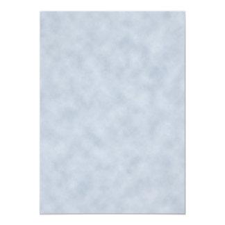 Textura do olhar do pergaminho das cinzas azuis do convite 12.7 x 17.78cm