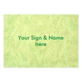 TEXTURA do PAPEL de fundo - verde Cartão De Visita Grande