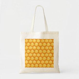 textura do pente da abelha do mel sacola tote budget