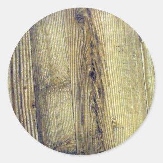 Textura do Woodgrain do vintage Adesivos Em Formato Redondos