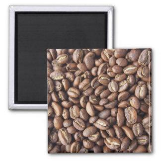 Textura dos feijões de café ímã quadrado