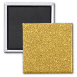 Textura dourada da faísca do brilho do ouro ímã quadrado