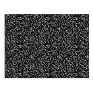 Textura elegante preta cartão postal