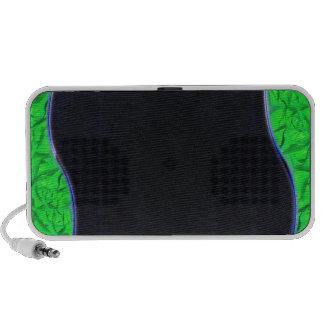 Textura esverdeado clara da iluminação caixinha de som para viagem