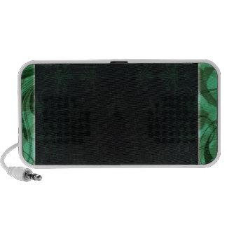 Textura esverdeado elegante caixinhas de som para mini
