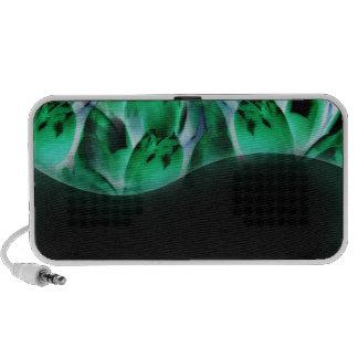 Textura esverdeado mágica caixinha de som para iPod