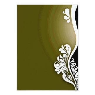 Textura floral e esverdeado branca pura convite personalizado