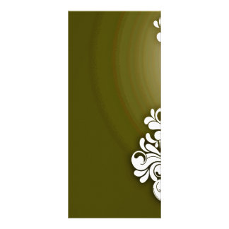 Textura floral e esverdeado branca pura panfleto personalizado