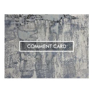 textura friável do cartão do comentário