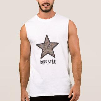Textura legal da rocha da estrela do rock com camisa sem mangas
