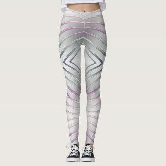 textura metálica geométrica abstrata legging