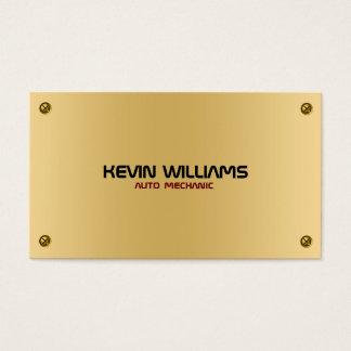 Textura metálica masculino do ouro com rebites cartão de visitas