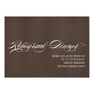 Textura moderna de Brown dos convites do jantar de