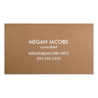 Textura moderna do papel do artesanato cartão de visita