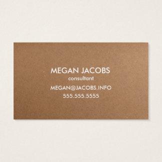 Textura moderna do papel do artesanato cartão de visitas