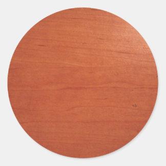 Textura morna v.2 do Woodgrain Adesivos Em Formato Redondos