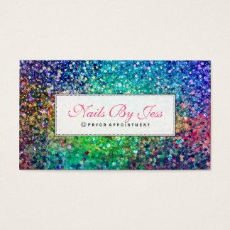 Textura multicolorido do brilho cartão de visitas