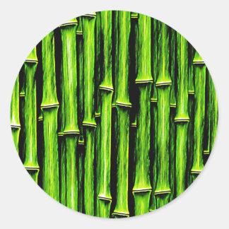Textura natural de madeira Styl de Brown dos Adesivo Redondo