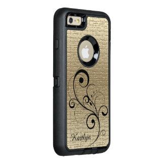Textura preta do ouro do redemoinho personalizada