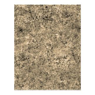 Textura queimada da telha da areia panfleto personalizados