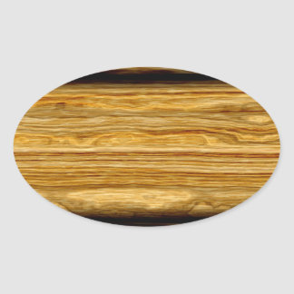 textura resistida dos conselhos de madeira adesivo oval