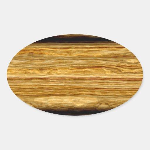textura resistida dos conselhos de madeira adesivos oval