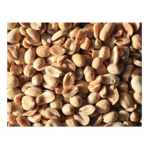 Textura Roasted dos amendoins Panfletos Coloridos