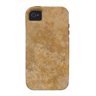 Textura TPD de Brown 3 Capa Para iPhone 4/4S