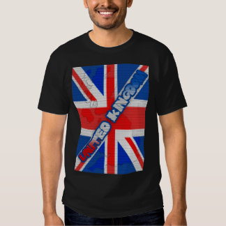 textura Union Jack Reino Unido Te do efeito do Tshirt