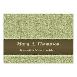 Textura verde Khaki clara Cartão De Visita Grande