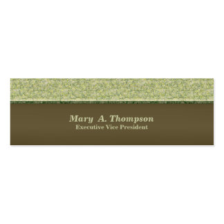 Textura verde Khaki clara Cartão De Visita Skinny