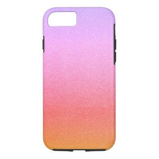 Textura visual Ombre da areia cor-de-rosa do Capa iPhone 7