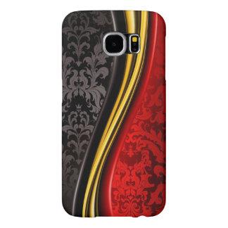 texturas pretas vermelhas do vintage elegante capas samsung galaxy s6