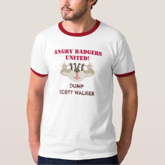 Texugos de Wisconsin Politics_Angry unidos T-shirt