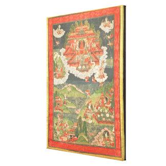 Thangka do paraíso de Amitabha Impressão Em Tela