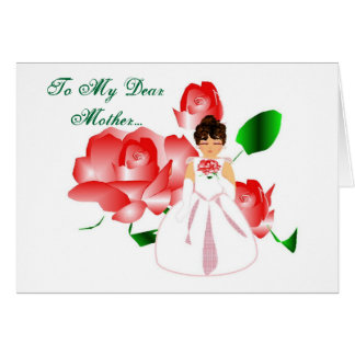 """""""Thank You Mother From Daughter"""" Wedding Day Card Card"""