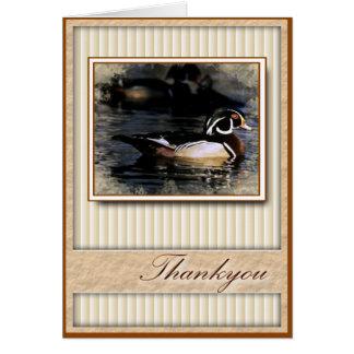 Thankyou cartão do pato
