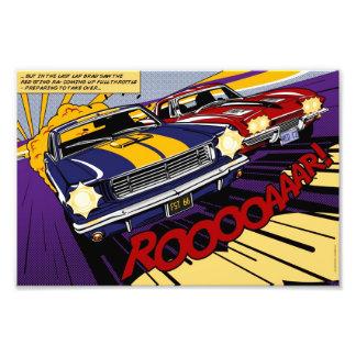 The Duel: Cavalo selvagem vs. Corvette Impressão De Foto