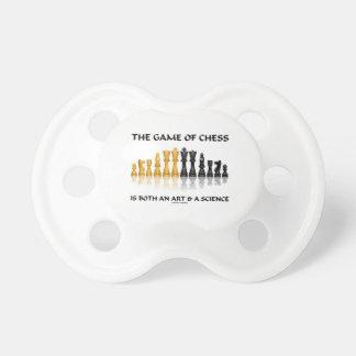 The Game da xadrez é uma arte & uma ciência Chupeta Para Bebê