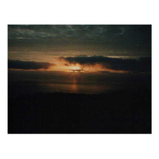 The Sun está indo dormir Cartao Postal