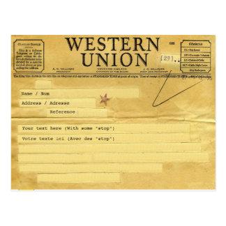 The telegram/telegrama cartão postal