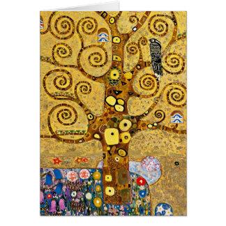 """"""" The Tree of Life """" , Gustav Klimt Cartão Comemorativo"""