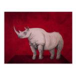 The White Rhino Tarjeta Postal