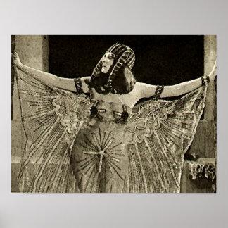Theda Bara como o filme do vintage de Cleopatra Poster
