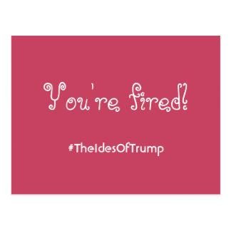 #TheIdesOfTrump você é cartão cor-de-rosa ateado
