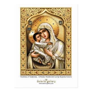 Theotokos da ternura - cartão