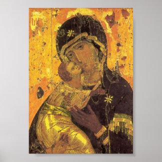 Theotokos de Vladimir Poster