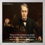 """Thomas Edison de """"poster das citações da sabedoria"""