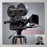 "Thomas Edison ""tentativa para suceder"" o poster da"