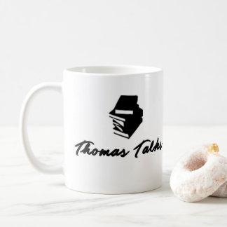 Thomas fala a caneca de café do logotipo